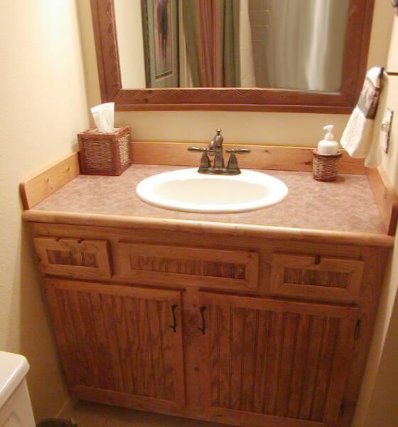 Pine Bathroom Vanity Unit: Kitchens & Baths